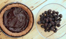 Torta al cioocolato e more, Chocolate blackberry tart,Tarte Christophe Felder